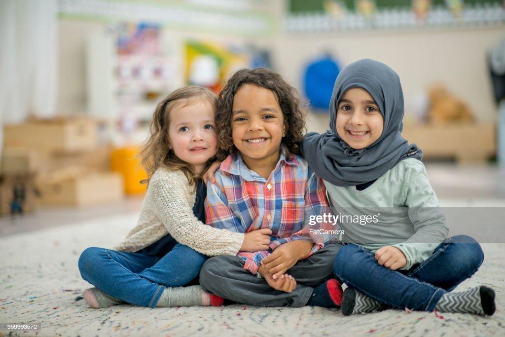 Ethenically diverse Kinder Portrait : Stock-Foto