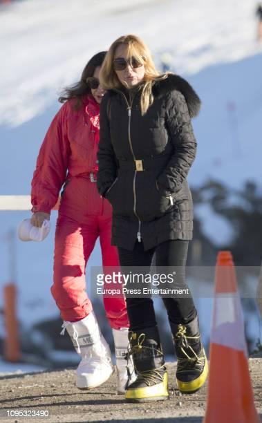 Ether Koplowitz and Esther Alcocer Koplowitz are seen on December 6 2018 in Baqueira Beret Spain