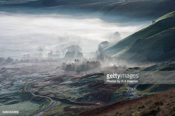 ethereal veil over the land, castleton, derbyshire - fantasy stock pictures, royalty-free photos & images