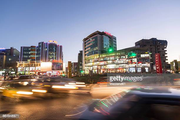 Ethiopia, Addis Ababa, City at night