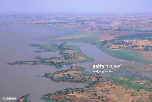 Ethiopia Aerial View Of Lake Tana Blue Nile