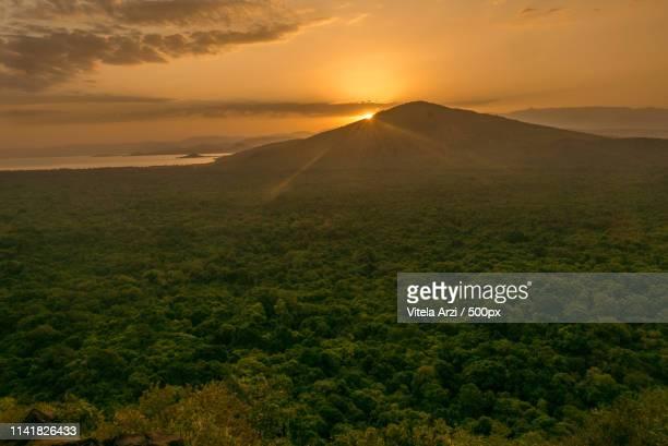 ethiopia , arbaminch, sunrise - エチオピア ストックフォトと画像