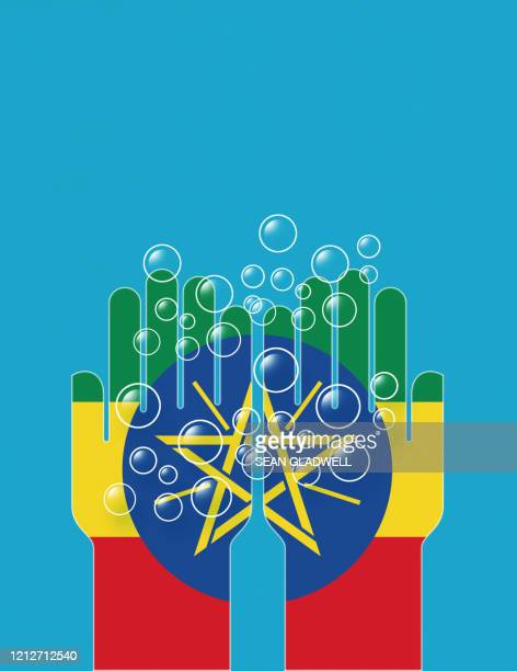 ethiopia cleaning hands - horn of africa stock pictures, royalty-free photos & images