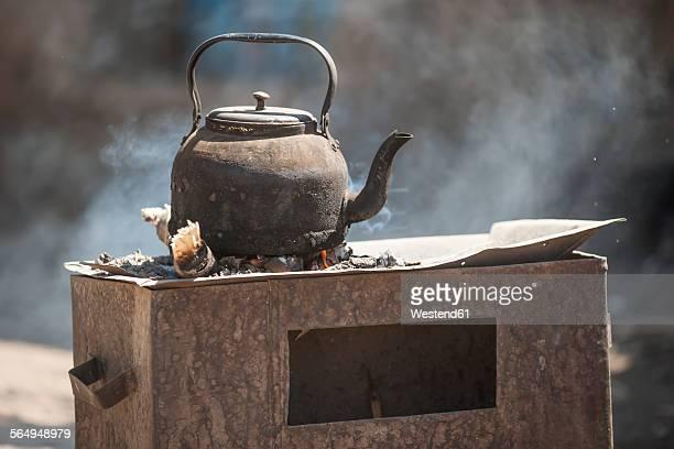 Ethiopia, Coffee kettle on stove