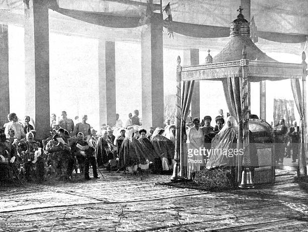Ethiopia Crowning of the emperor of Ethiopia Haile Sellassie The empress on the throne before the crowning ceremony