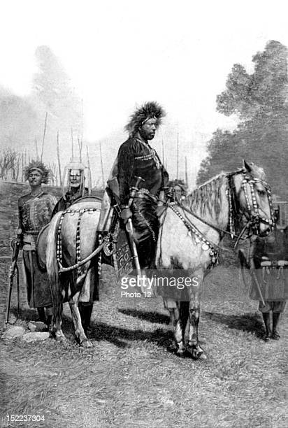 Ethiopia Emperor Menelik in battle dress