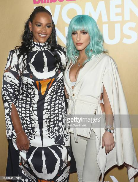 Ethiopia Habtemariam and Njomza attend the Billboard's 13th Annual Women in Music event at Pier 36 on December 6 2018 in New York City