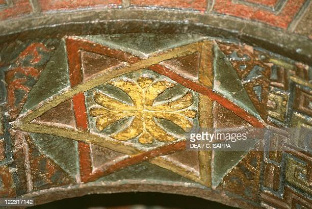 Ethiopia Lalibela RockHewn churches church of Bet Maryam detail of frescoed vault
