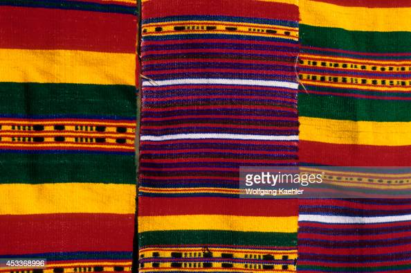 Ethiopia, Near Bahar Dar, Village Scene, Colorful Cotton Weavings