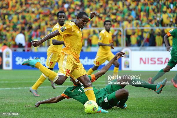 Ethiopia s Girma Adane during the 2013 Africa Cup of Nations soccer match Zambia vs Ethiopia at Soccer City Mbombela on January 19 2013 Photo by...