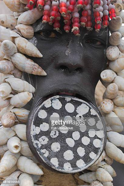 Ethiopia South Omo Valley Mursi Tribe Woman with lip plate