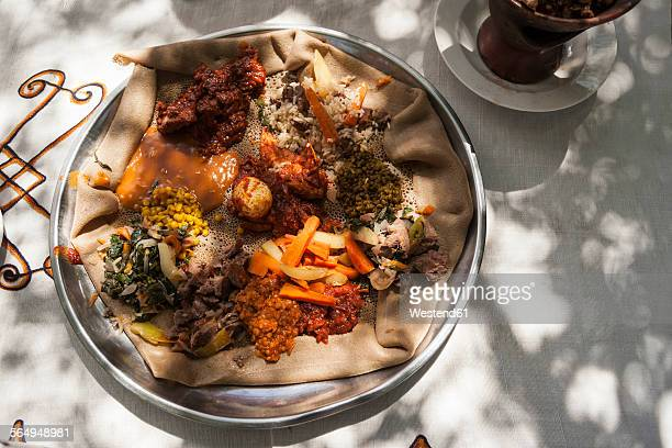Ethiopia, Traditional food of lentils and vegetables