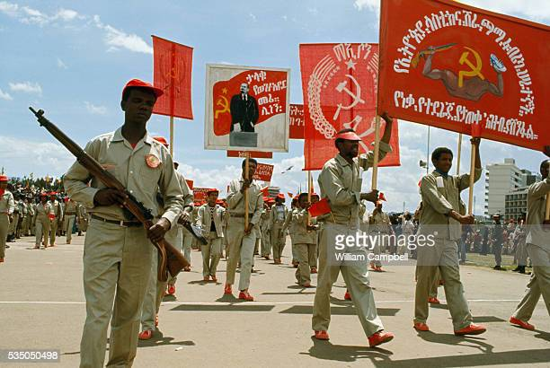 Ethiopian Army Marching on Labor Day