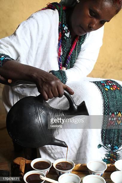 Ethiopian coffee ceremony Lalibela Ethiopia