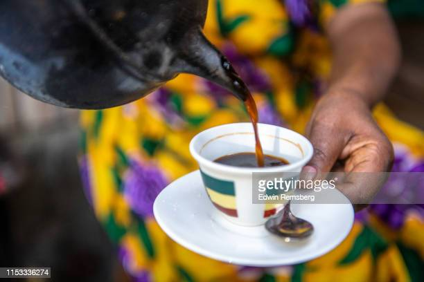 ethiopian coffee pour - ethiopia stock pictures, royalty-free photos & images