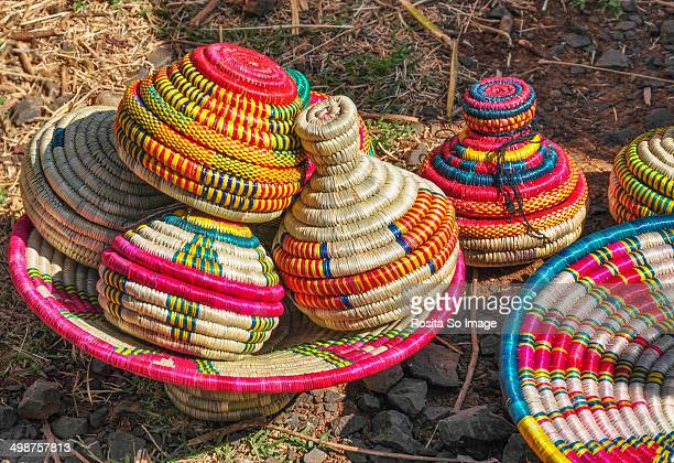 Ethiopian colorful and decorative woven reeds