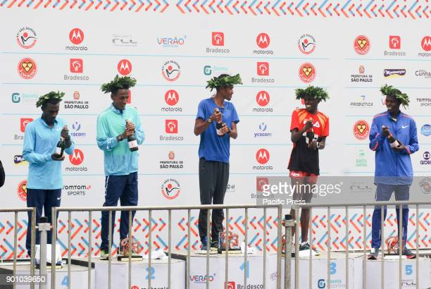 Ethiopian Dawit Fikadu Admasu took first place in the 93rd San Silvestre International Race followed by Ethiopian Belay Tilahun Bezabh third place...