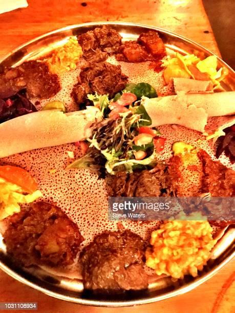 Ethiopian doro wat  and injera