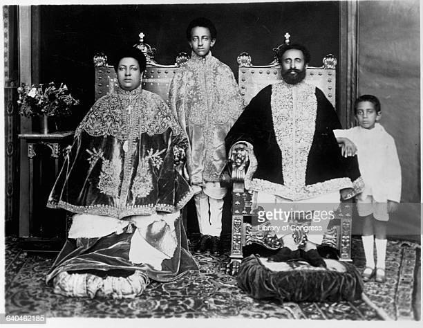 Ethiopian Emperor Haile Selassie and Family