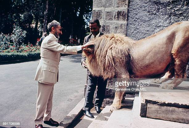 Ethiopian Emperor Haile Selassie at home in Debre Zeit Haile Selassie the last Emperor of Ethiopia ruled as King of Ethiopia before being crowned...
