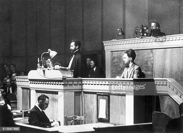 Ethiopian Emperor Haile Selassie in 1936 as he delivered his famed address before the League of Nations In the speech he urged the body to save his...