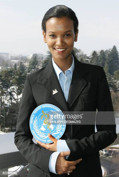 Ethiopian fashion model Liya Kebede poses after being appointed as World Heatlh Organization's Goodwill Ambassador for Maternal Newborn and Child...