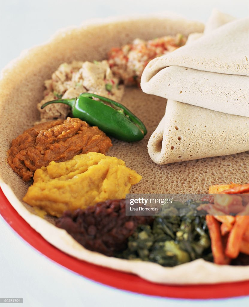 Ethiopian food : Stock Photo