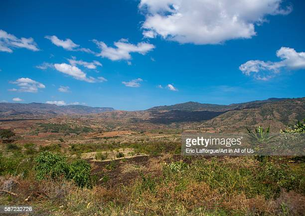 Ethiopian highlands landscape gamo gofa omo arba minch Ethiopia on March 12 2016 in Arba Minch Ethiopia