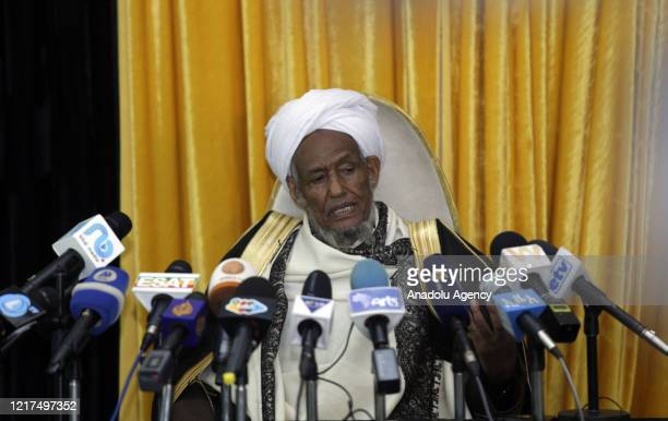 Ethiopian Islamic Affairs Supreme Council head Hajji Mufti Omar Idris speaks about for peaceful and cooperative use of the Nile waters during hold a...