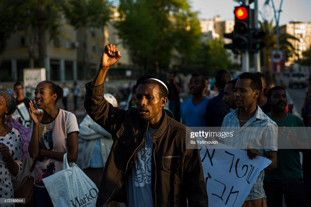 Ethiopian Jewish Anti Police Brutality Protest : News Photo