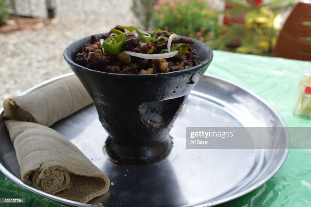 Ethiopian Lamb Tibs : Stock Photo