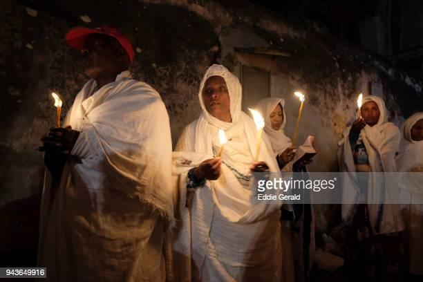 Ethiopian Orthodox Christians celebrate Holy Fire in Jerusalem