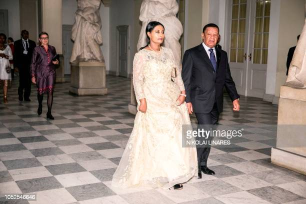 Ethiopian President Mulatu Teshome Arrives with his wife Meaza Abraham arrive for the P4G summit dinner at Christiansborg Castle in Copenhagen...
