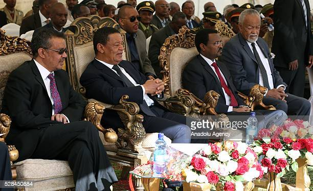 Ethiopian President Mulatu Teshome Minister of Foreign Affairs of the Federal Democratic Republic of Ethiopia Tedros Adhanom Mayor of Addis Ababa...