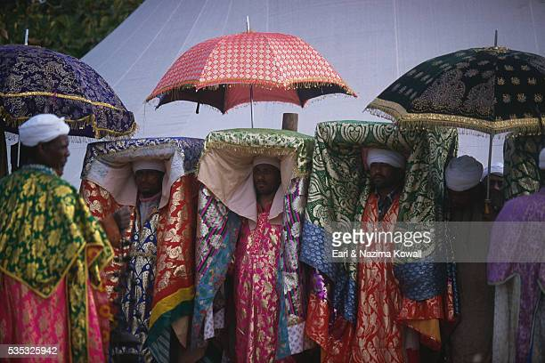Ethiopian Priests During Timkat Festival
