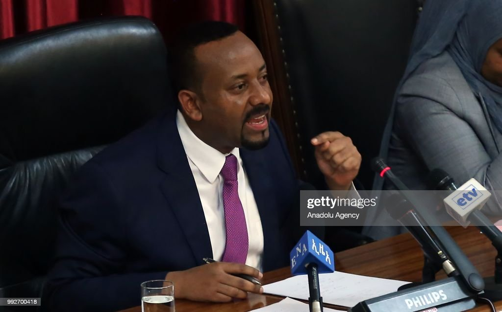 Ethiopian Prime Minister Abiy Ahmed... : News Photo