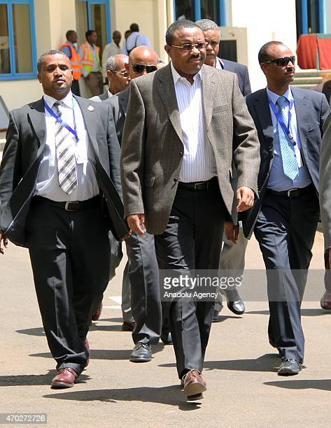 Ethiopian Prime Minister Hailemariam Desalegn arrives to attend the 4th Tana HighLevel Forum on Security in Africa held in Bahir Dar city on April 18...