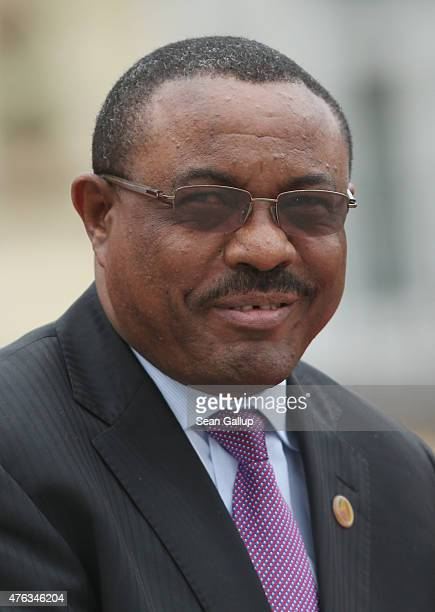 Ethiopian Prime Minister Hailemariam Desalegn attends the second day of the summit of G7 nations at Schloss Elmau on June 8 2015 near...