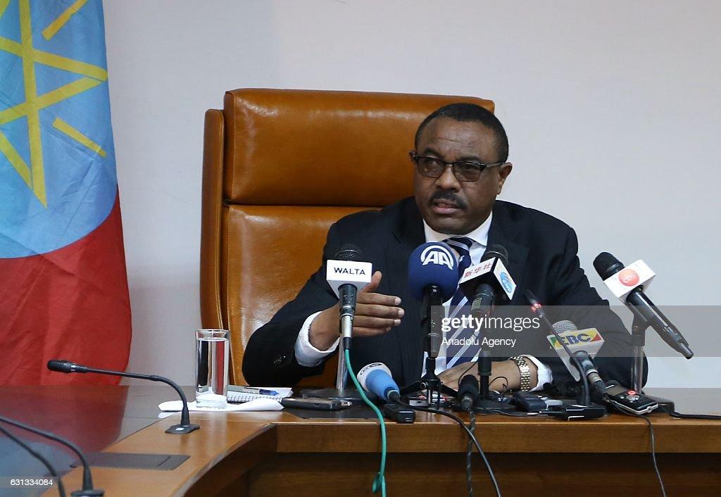 Ethiopian PM Hailemariam Desalegn : News Photo