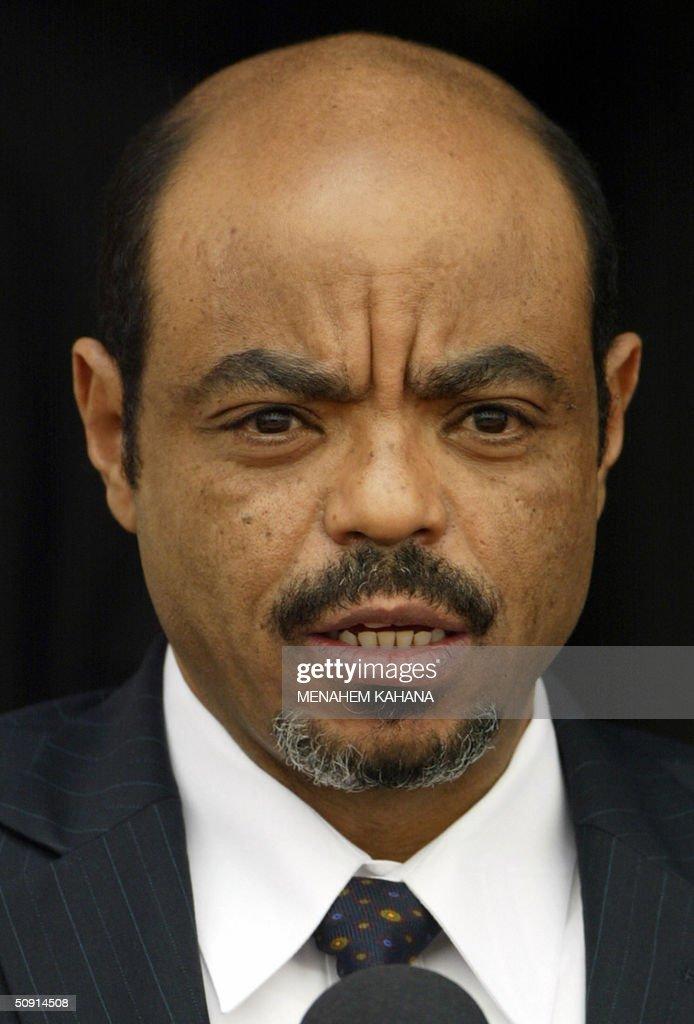 Ethiopian Prime Minister Meles Zenawi is : News Photo