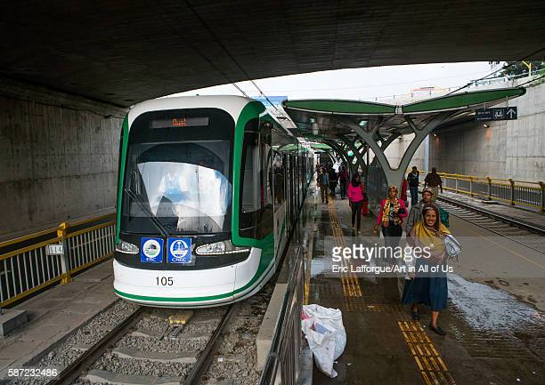 Ethiopian railways constructed by china addis abeba region addis ababa Ethiopia on March 7 2016 in Addis Ababa Ethiopia