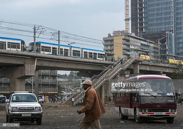 Ethiopian railways constructed by china addis abeba region addis ababa Ethiopia on March 7 2016 in Addis Ababa Ethiopia