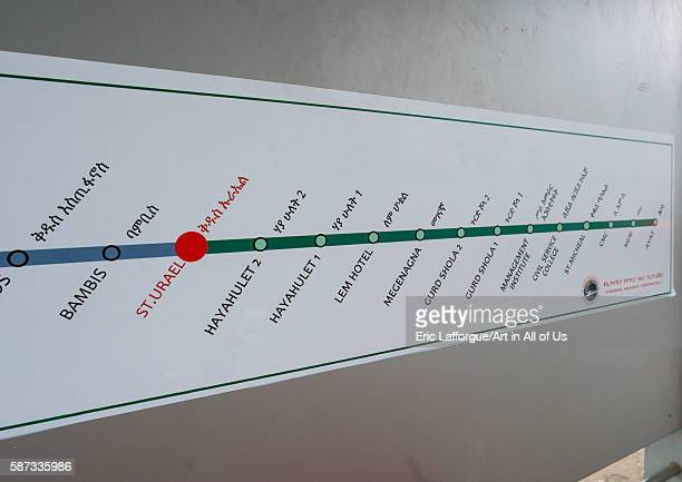 Ethiopian railways map, addis abeba region, addis ababa, Ethiopia on March 7, 2016 in Addis Ababa, Ethiopia.
