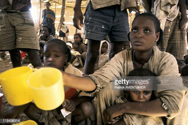 Ethiopian Refugee Camp In Sudan On January 30th 1985 In Soudan Drought Refugees At The Camp Of Stierifee