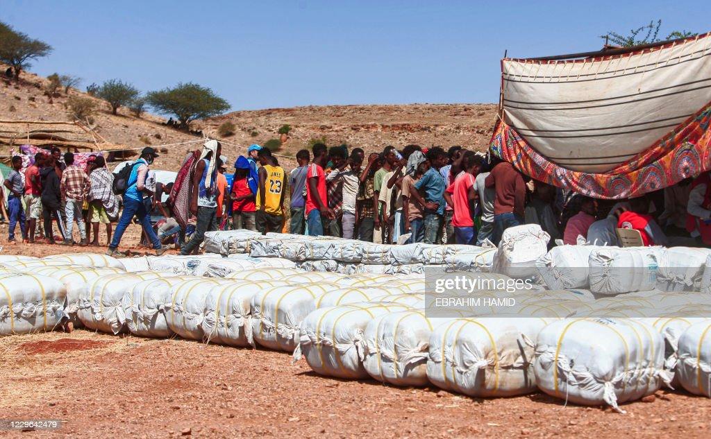 SUDAN-ETHIOPIA-CONFLICT-REFUGEES : News Photo