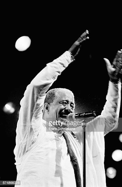 Ethiopian super star Mahmoud Ahmed, vocal, performs on June 18th 1998 at the Melkweg in Amsterdam, the Netherlands.
