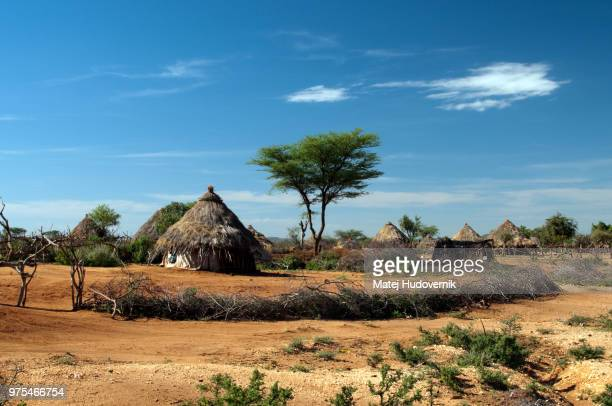 ethiopian tribal village - village stock pictures, royalty-free photos & images