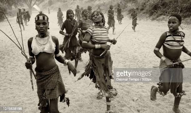 ethiopian tribes, omo valley - dietmar temps stock photos and pictures