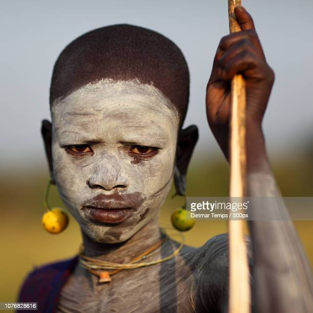 ethiopian tribes, suri - dietmar temps stock photos and pictures