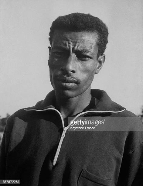 Ethiopian marathon runner, Abebe Bikila, winner of the marathon at the Olympic games in Tokyo and in Rome on October 22, 1964.